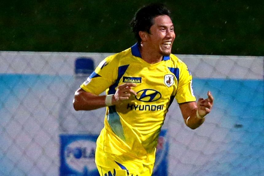 Noh Alam Shah, seen here in Tampines Rovers colours, captained Singapore, and won three S-League titles and AFF Championship titles in 2005 and 2007.