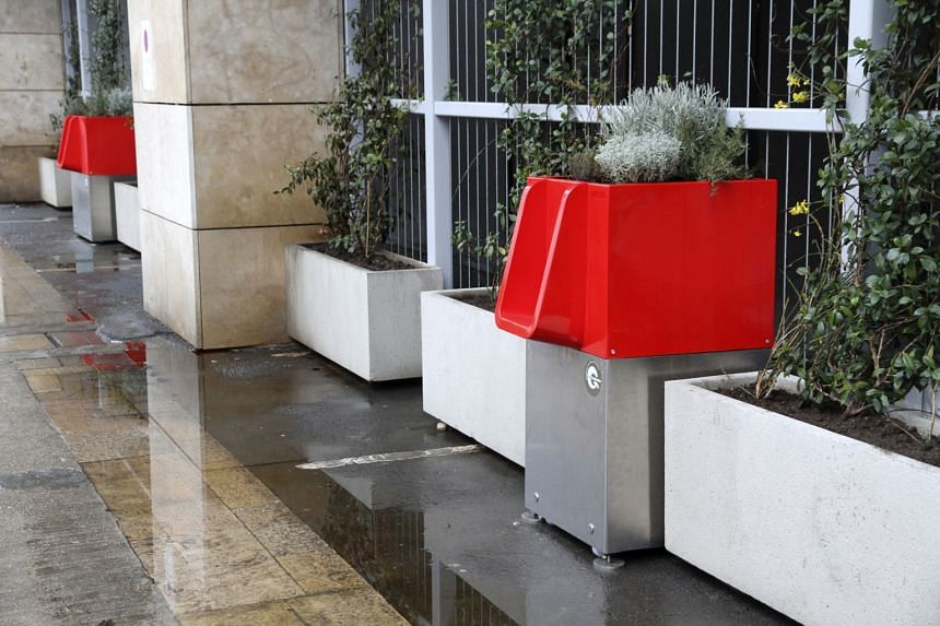 The Uritrottoir, a public urinal, also produces compost that can be used as fertiliser to grow plants.