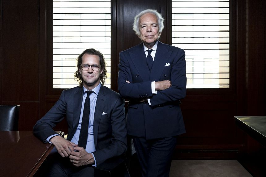 Mr Stefan Larsson's (above left) ideas did not work for Ralph Lauren (above right).