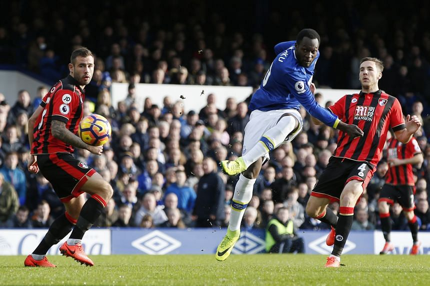 Romelu Lukaku opening accounts for Everton after only 30 seconds, equalling the record for the fastest league goal of the season. His total of 16 is one more than the tallies of Chelsea's Diego Costa and Alexis Sanchez of Arsenal.