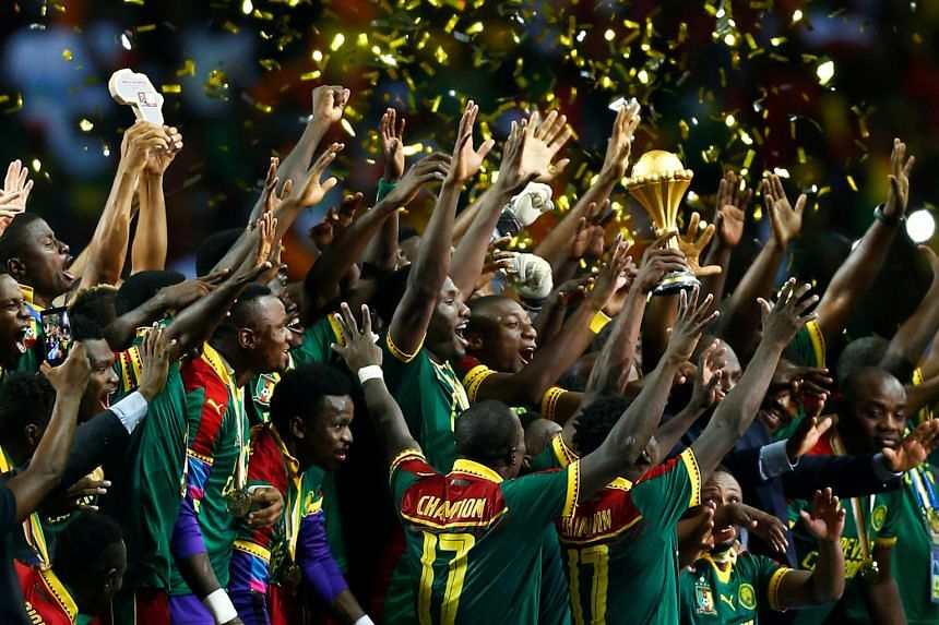 Cameroon celebrating after winning their fifth Africa Cup of Nations on Sunday. The tournament underdogs came from behind to beat seven-time champions Egypt 2-1 in a pulsating final and are now the second most successful team in the history of the co