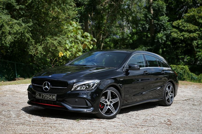 The Mercedes- Benz CLA250 Shooting Brake has a torquey powerplant and a light throttle.