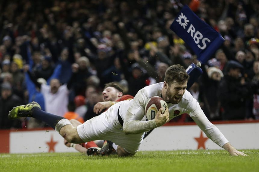 """A late try from Elliot Daly gave England a 21-16 victory against Wales in the Six Nations game in Cardiff. Coach Eddie Jones said of the dramatic rescue act: """"We don't want all our games to be that tight."""""""