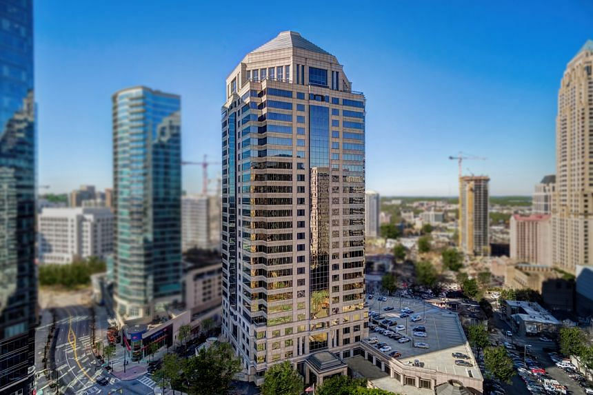 Manulife US Reit's Class-A Peachtree building in Atlanta in the United States. The property is one of its three prime, freehold and Class A or Trophy quality office properties in its initial Reit portfolio.