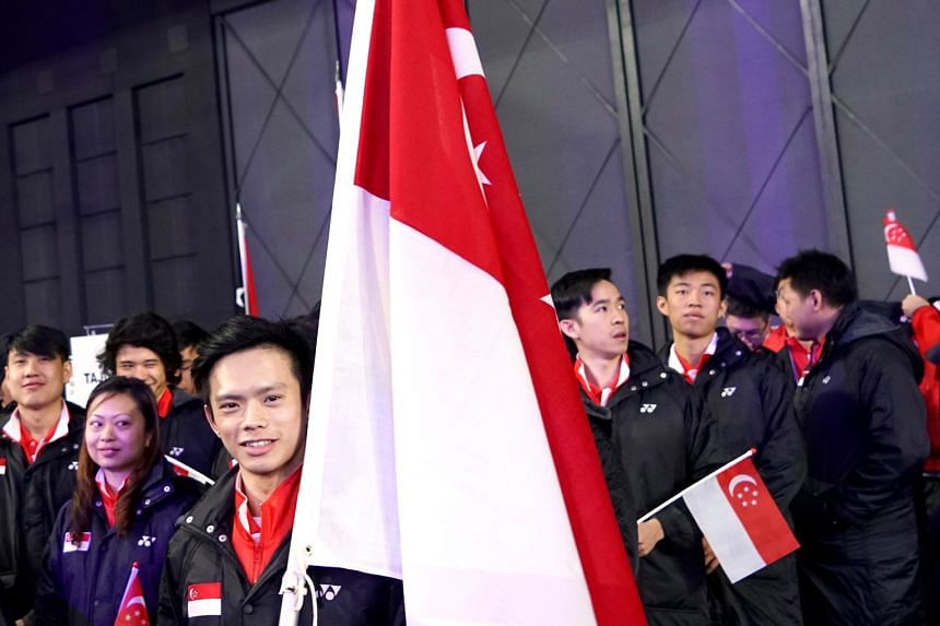 National short-track speed skater Lucas Ng took on the role of Singapore's flag-bearer for the second straight Asian Winter Games yesterday, during the quadrennial event's opening ceremony at the Sapporo Dome in Japan. The 29-year-old was Singapore's