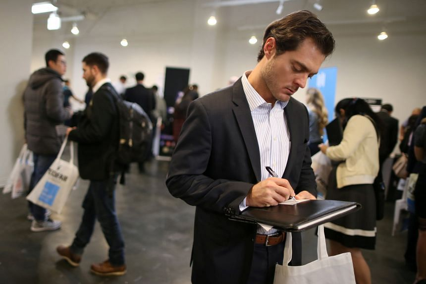 A technology job fair in Los Angeles. The evidence in the US for demand-driven training is promising so far. A 2010 study of three such programmes found that enrollees were earning almost 30 per cent more than a control group two years after they beg