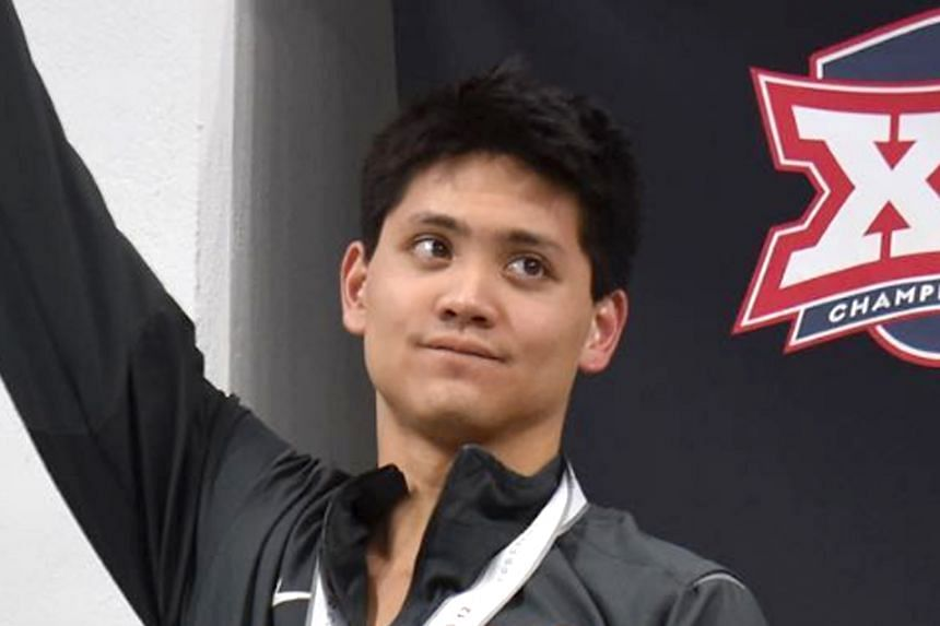Joseph Schooling set a new record in the 100-yard butterfly at the Big 12 Swimming and Diving Championships on Friday with a time of 44.06 seconds.