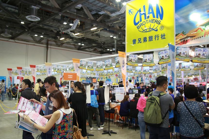 The Travel Revolution Fair drew 80,000 visitors over the weekend, nearly on a par with levels last year. Some exhibitors, including Chan Brothers, reported an increase in sales.