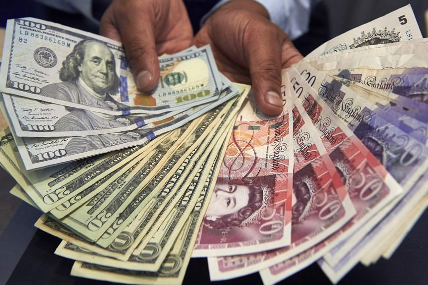 Sterling slid by as much as 0.7 per cent to US$1.2384 yesterday, its lowest in nearly a fortnight. It last traded down 0.3 per cent at US$1.2431.