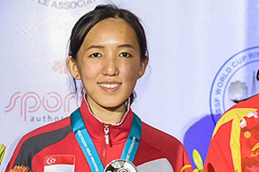"""A """"refreshed"""" Jasmine Ser clinched a second-place finish in India. It was her first time competing overseas in her pet 50m rifle event since the Rio Olympics."""