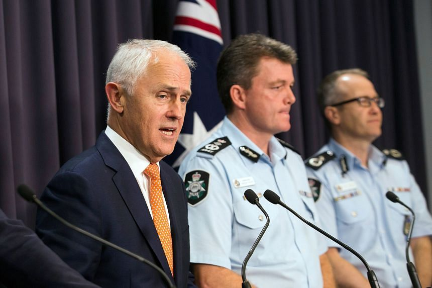 """PM Turnbull, at a press conference yesterday, said the arrest highlights Islamist extremism is """"not limited to our major cities""""."""