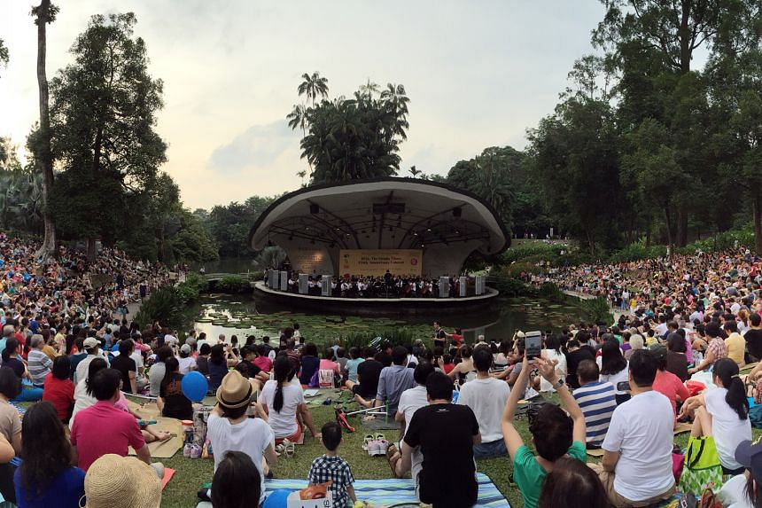 A concert in the Botanic Gardens to mark ST's 170th anniversary in 2015. The SSO will return to the same venue on July 22.