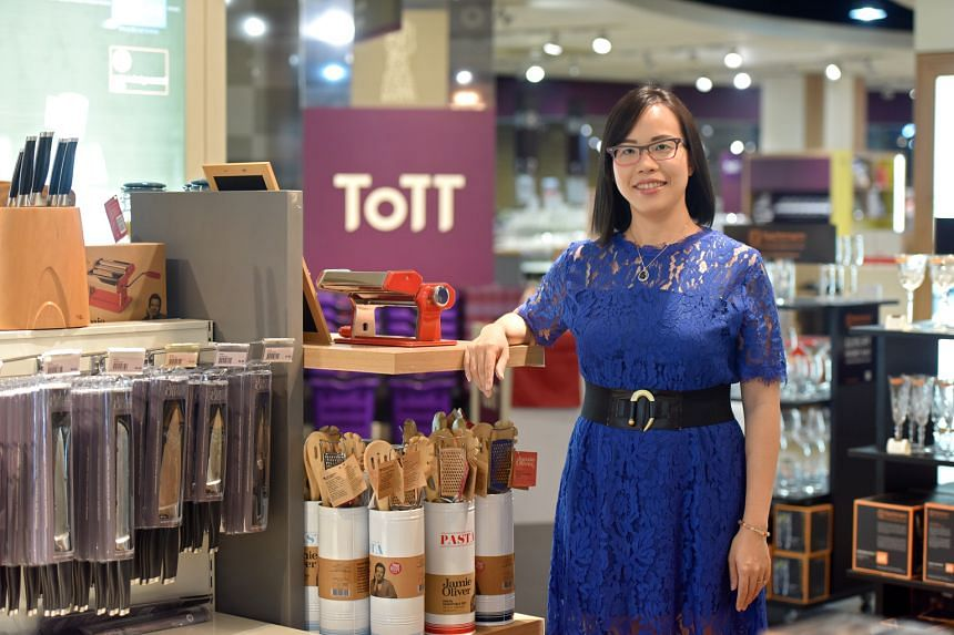 Ms Grace Tan says re-invention has always been at the heart of ToTT's ethos. The kitchenware retailer has branched out into e-commerce, cooking lessons and even customised kitchenware.