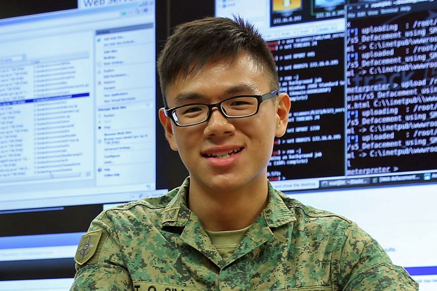 Corporal Sim Tian Quan's duties include monitoring the SAF networks and responding to cyber incidents.