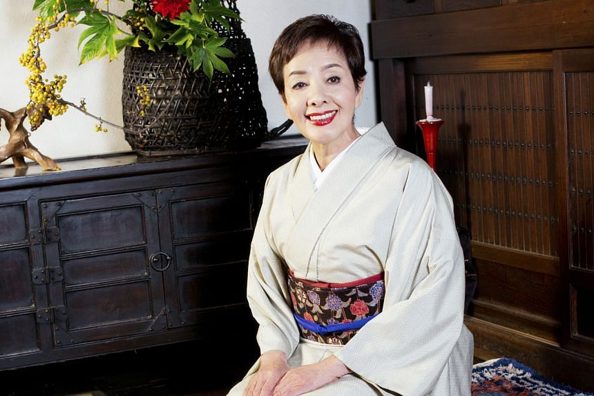 Mie Hama (above, in her home in Hakone, Japan) appeared with Sean Connery (both above left) in the 1967 James Bond film, You Only Live Twice.
