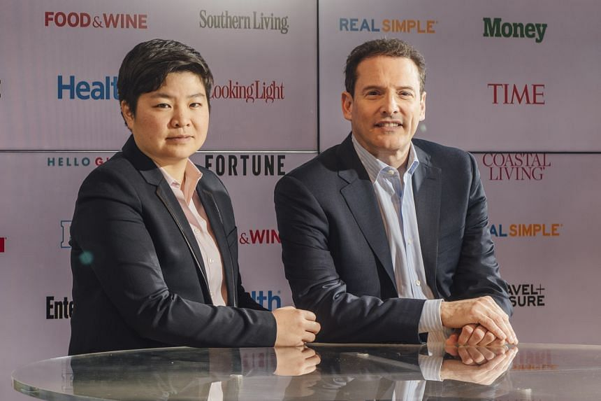 Chief Executive Rich Battista (Right). With him is the company's new chief operating officer, Ms Jen Wong.