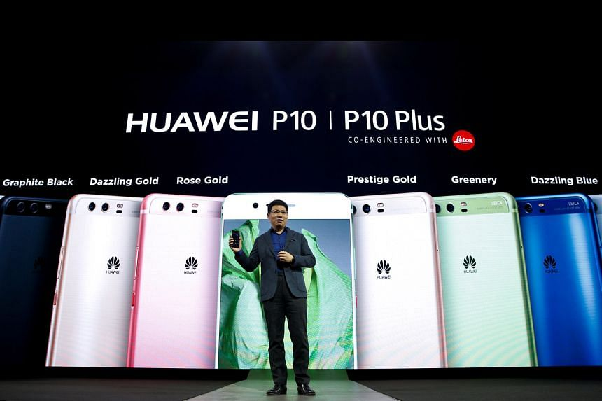 Mr Richard Yu, chief executive of Huawei's consumer business, introducing the P10 and P10 Plus smartphones at Mobile World Congress in Barcelona last week.