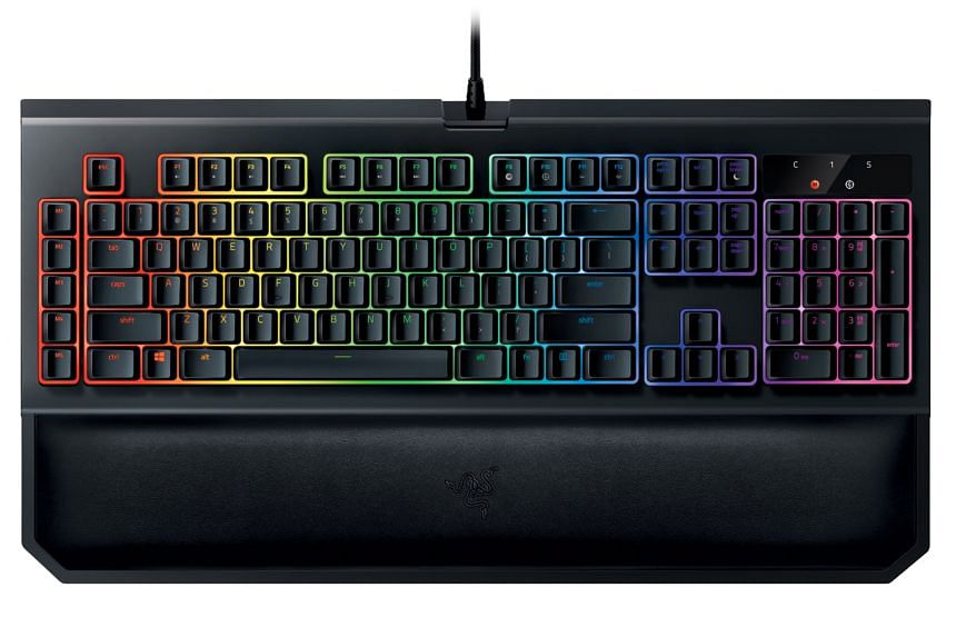 The Razer Blackwidow Chroma V2's cushioned wrist rest is ideal for typing but not recommended for gaming.