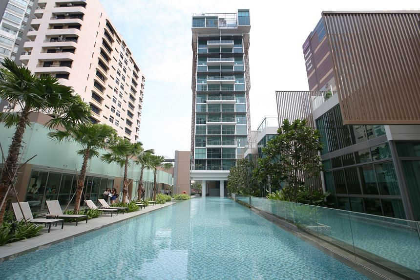 CapitaLand is confident of selling all 124 units at its newly completed Marine Blue condo. Developers have a five-year deadline to complete and sell all units, but new home sales have slowed markedly in recent years, after a raft of cooling measures.