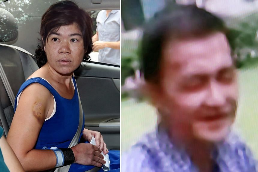 "Praphuttha (left), a Thai national, was sentenced to 51/2 years in jail. She had stomped on Mr Lee's (above) head so hard that she fractured his skull. He died a few hours later. A neighbour heard Mr Lee shouting ""Stop beating me"" and ""Don't beat me"""