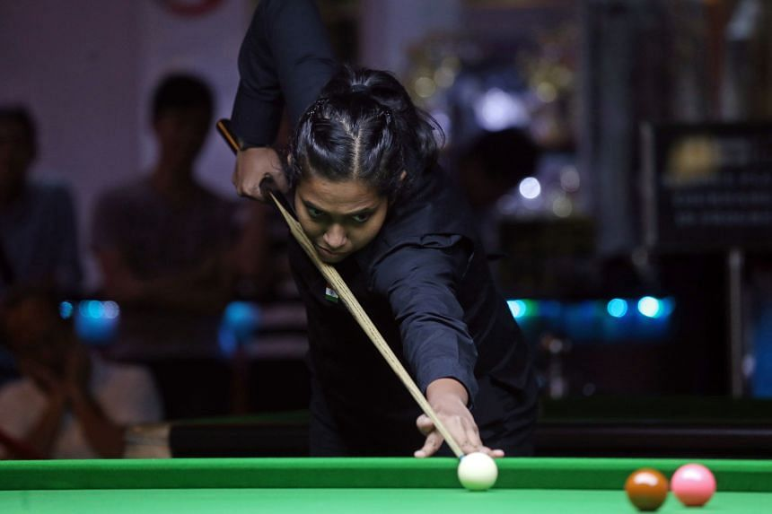 Vidya Pillai in action. She exceeded all expectations by reaching the final.