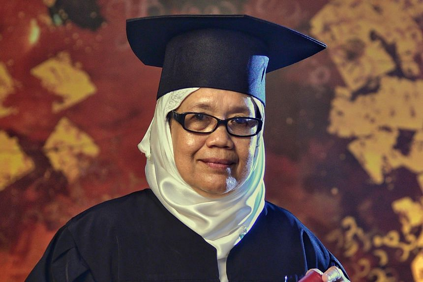 Madam Rokiah Omar graduated with a bachelor's degree in Islamic studies.