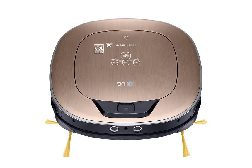 The LG Hom-Bot Turbo+ is equipped with three cameras, including one in front that works as a security camera.