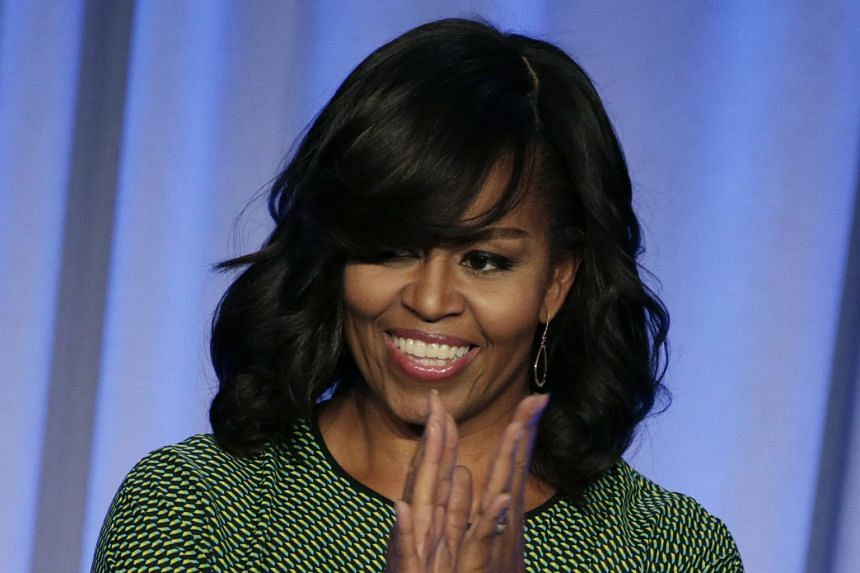 Mrs Michelle Obama, at her first speech since January, said being in the White House was tough on her family.
