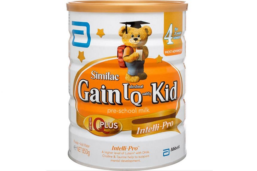 """Abbott's Similac Gain has come under scrutiny here for its labelling. The """"IQ"""" in its Gain IQ range stands for intestinal quality."""