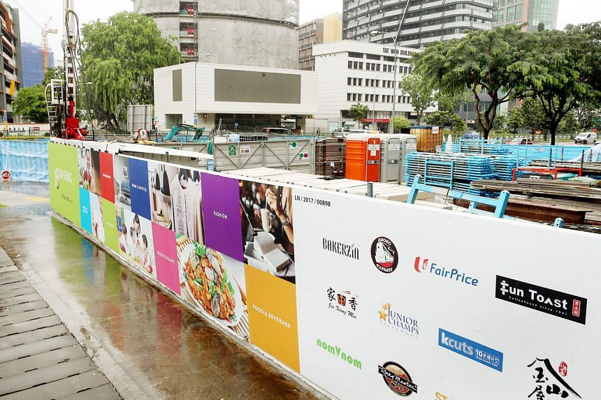 Above: A view of the construction site from the street. The underpass is part of a land sale requirement set by JTC Corporation when Mapletree won the tender to de