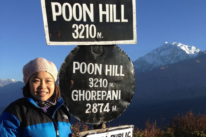 Ms Kymn Yee, who has thalassaemia major and needs regular blood transfusions, has not let this deter her adventurous spirit. Mountain peaks she has scaled include the Poon Hill in Nepal.