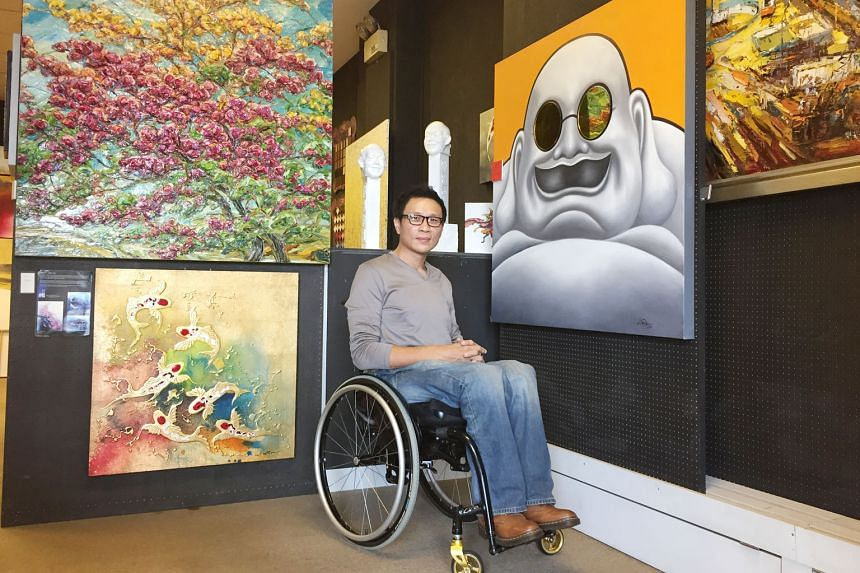 Mr Allan Tan, seen here at At Ease Gallery which he owns, says some people cannot see beyond his disability.