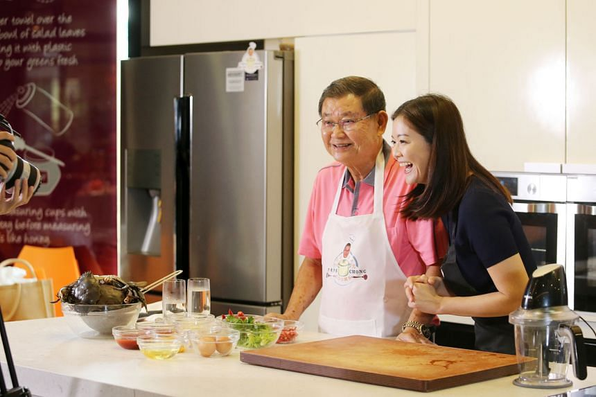 Michelle Chong's father Steven Chong stars in the Papa Chong Cooks show on her YouTube channel.