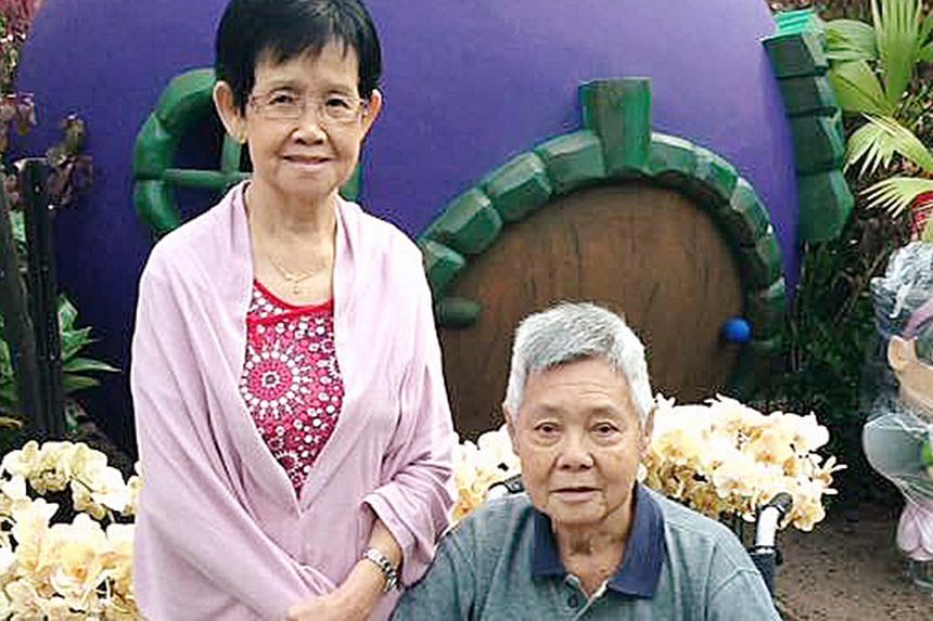 Above and right: Three knives were retrieved from a rubbish chute at the foot of Block 717, Bedok Reservoir Road, where 79-year-old Chia Ngim Fong and his 78-year-old wife Chin Sek Fah lived in a five-room executive flat.Far right:
