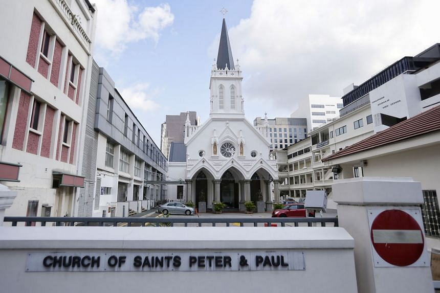 The Church of Saints Peter and Paul conducts most services in English, with Mandarin and Cantonese mass held once a week on Sundays. The number of people turning up for the Mandarin and Cantonese mass has dwindled. The church is also finding it hard to at