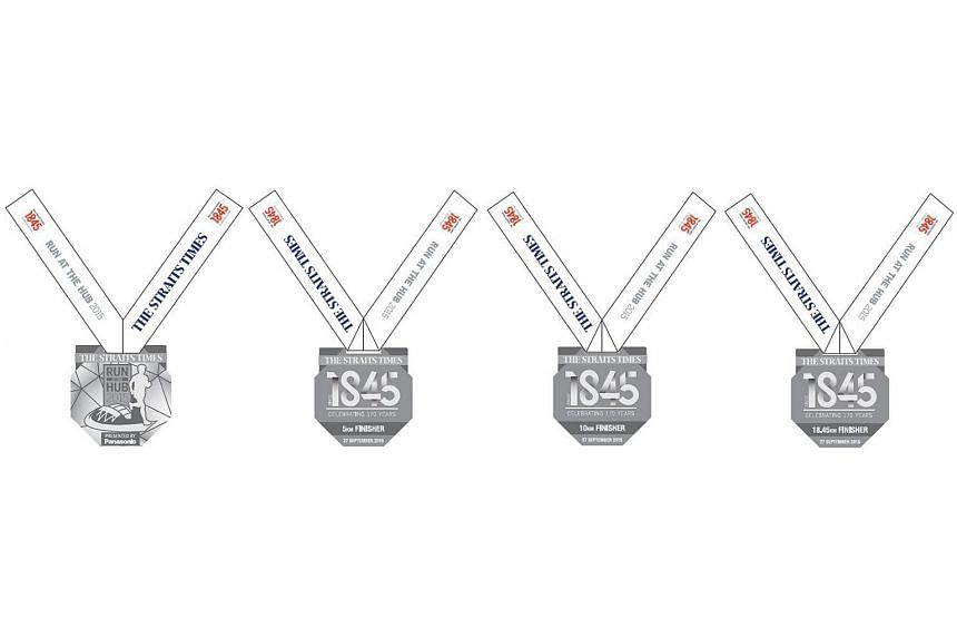 All runners who complete their events at The Straits Times Run at the Hub will receive a finishers medal.