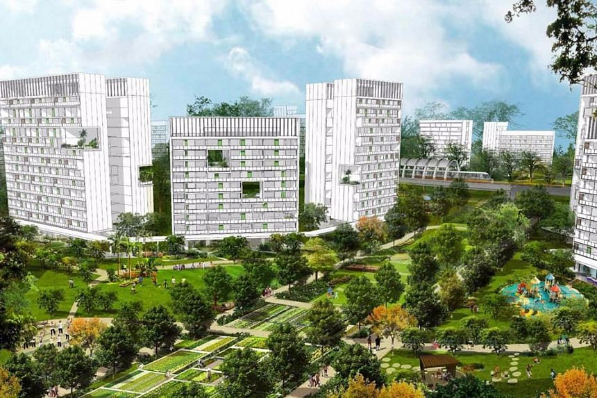 An artist's impression of the future Tengah town.