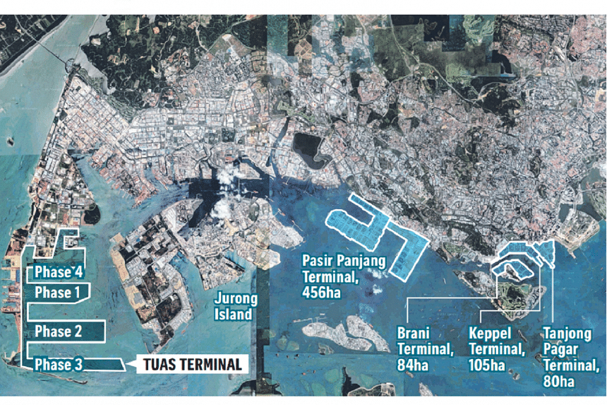 The Tuas Terminal will be developed in four phases over 30 years, with Phase 1 scheduled to be completed by the early 2020s.