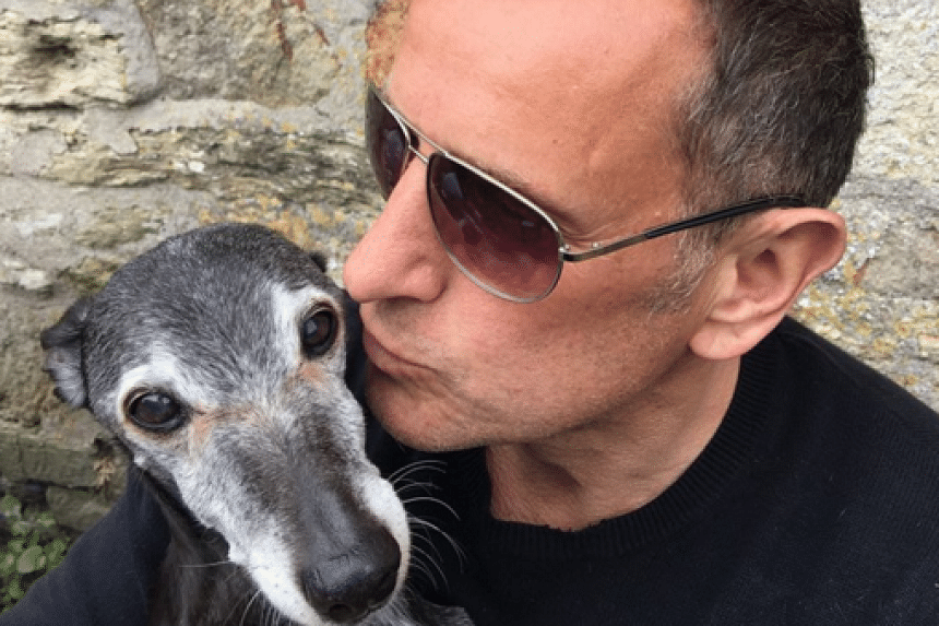 Hundreds of people joined Mr Mark Woods when he took his beloved pet dog Walnut on a final walk on Saturday (Nov 12) morning, reported the BBC.