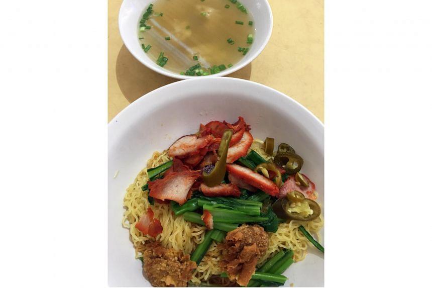 Wonton noodles from Tanjong Rhu Wanton Noodle.