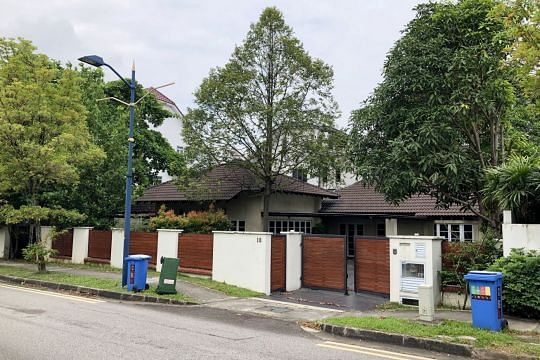 Single storey detached house in Serangoon Gardens on sale for 11 5m