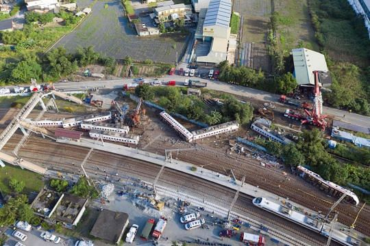 'The world is turned upside down in seconds' in Taiwan's worst rail accident in decades