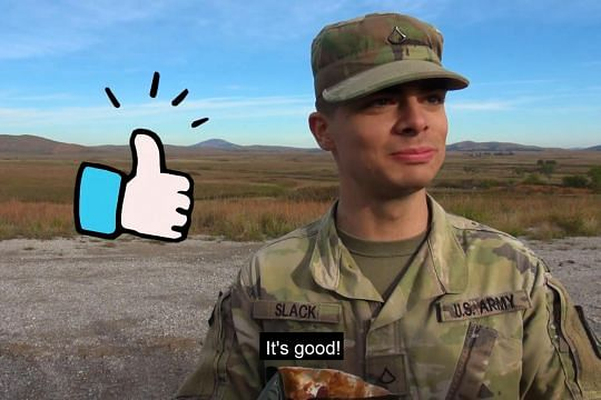 US soldiers give SAF combat rations the thumbs up