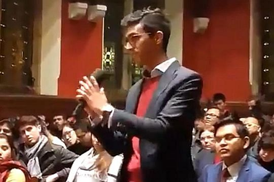 Singapore student takes on Mahathir at Oxford Union