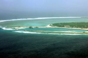An aerial view of the city of Sansha on the island of Yongxing. China has deployed surface-to-air missiles on the disputed island in the South China Sea, Taiwan said on Feb 17, 2016.