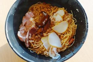 A bowl of minced pork noodles from MacPherson Minced Meat Noodles.