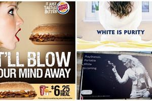 (Clockwise from left) Burger King's sexually suggestive ad, Nivea's Middle East