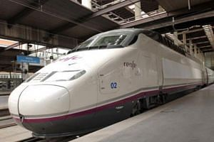 Spain's Alta Velocidad Espanola (AVE), which is operated by national railway company Renfe Operadora. -- PHOTO: FROM RENFE OPERADORA WEBSITE
