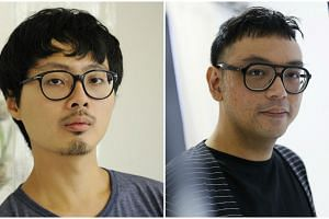 Two Singapore artists, Zhao Renhui (left) and Ho Tzu Nyen, are among those vying for the $60,000 grand prize in the Asia Pacific Breweries Foundation Signature Art Prize. -- PHOTOS: ST FILE