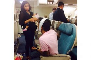 Eight passengers and 14 crew were injured when an SIA plane bound for Mumbai, India, met with serious turbulence. -- PHOTO: ST READER